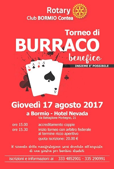 BURRACO BENEFICO a Bormio